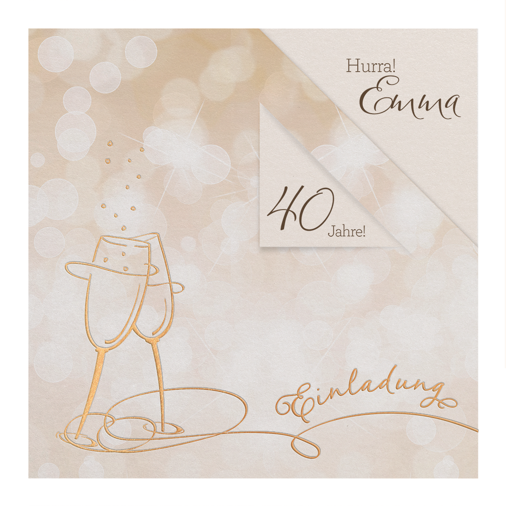 Geburtstags Einladungskarten Mit Sekt , Wein , Oder Cocktailgläsern |  Alle Karten.de
