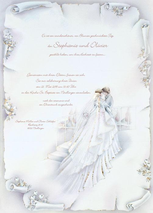 Hochzeitsbrief Mit Brautpaar Goldfolienprägung Jc636 U2013 Hochzeitskarten U2013  Hochzeitseinladungskarten U2013 Nach Farben Sortiert U2013 Bunt U2013 Alle Karten.de
