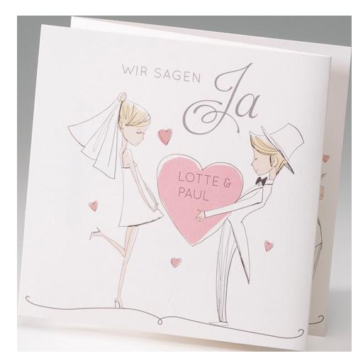 hochzeitskarte verliebt verlobt verheiratet mit brautpaar. Black Bedroom Furniture Sets. Home Design Ideas
