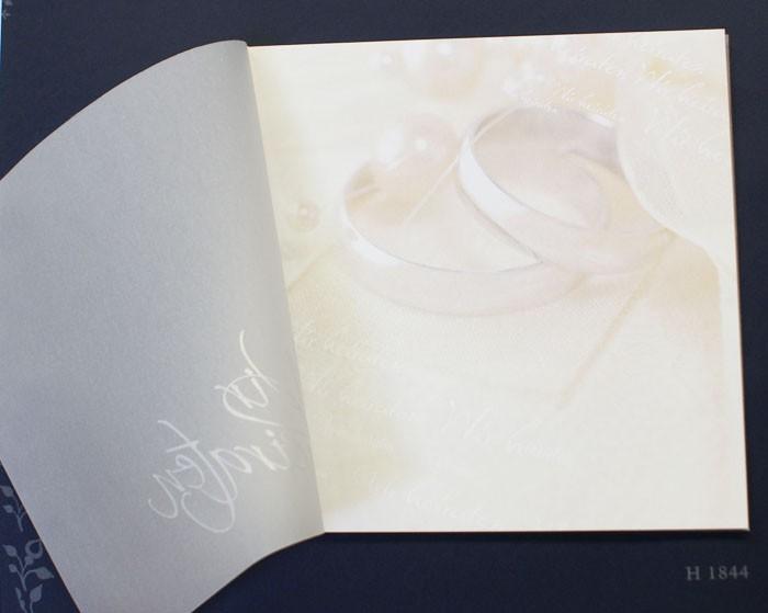Hochzeitskarte Mit Transparentumschlag Ringen Und Text Wir