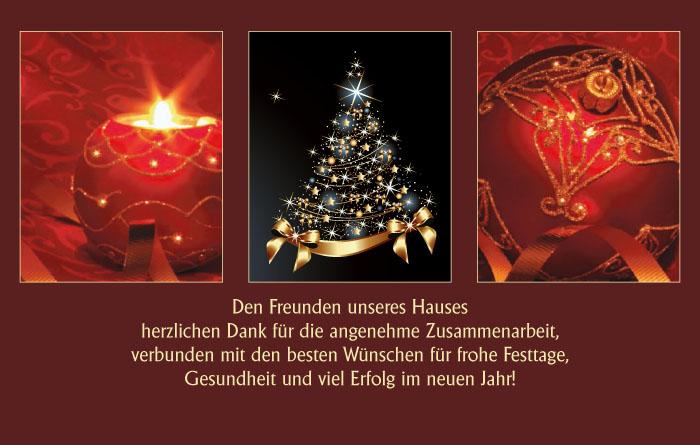 weihnachtskarte danke f r angenehme zusammenarbeit. Black Bedroom Furniture Sets. Home Design Ideas