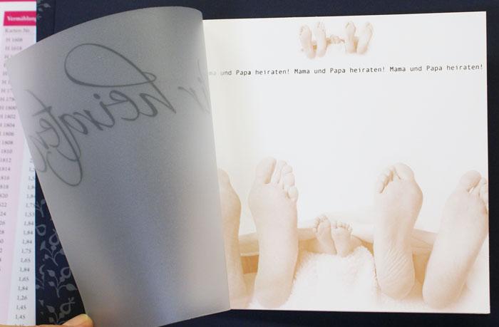 hochzeitskarte mama & papa heiraten taufe baby traufe sepia, Einladung