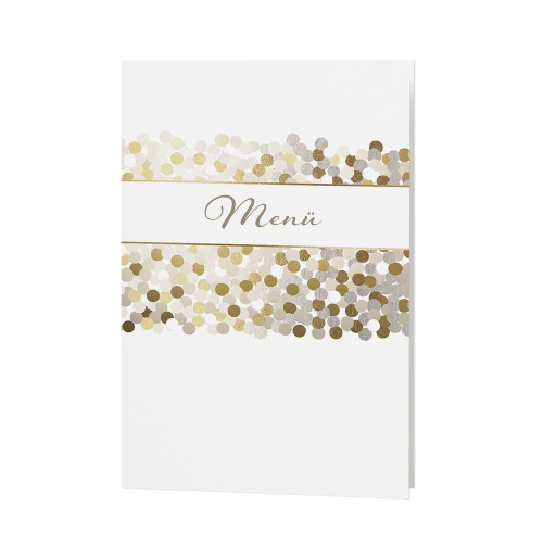 Edle Goldene Und Bronzefarbene Menükarten Zur Hochzeit