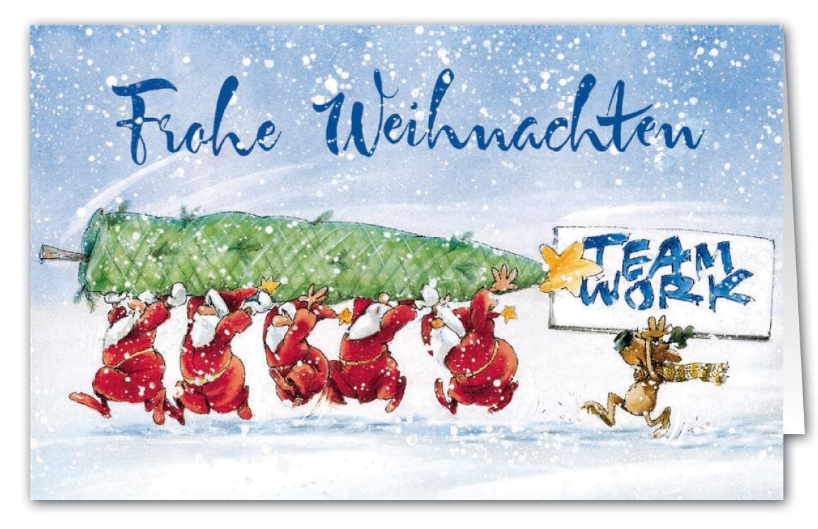 Originelle Weihnachtskarten.Lustige Weihnachtskarte Als Branchenkarte Für Unternehmen Aller Art