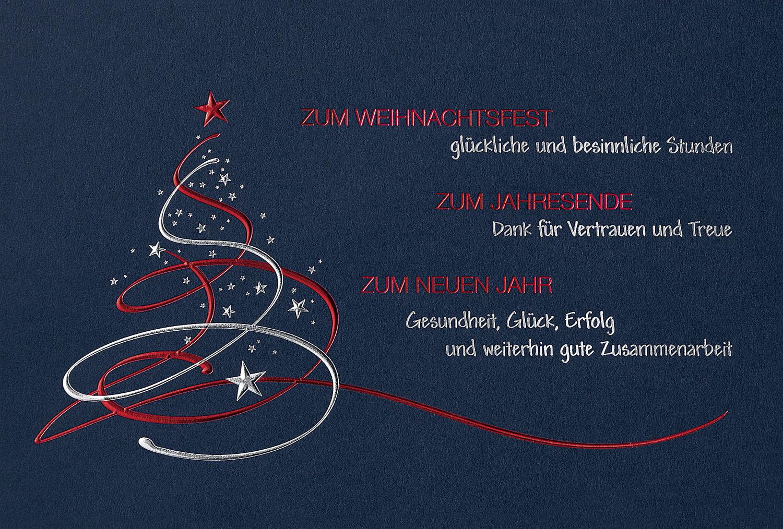 weihnachtskarte nachtblau mit gesch ftlichem text und abstraktem weihnachtsbaum weihnachten
