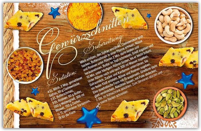 Weihnachtskarten Mit Duft.Rezeptkarte Als Duft Weihnachtskarte Gewürzschnitten Weihnachten