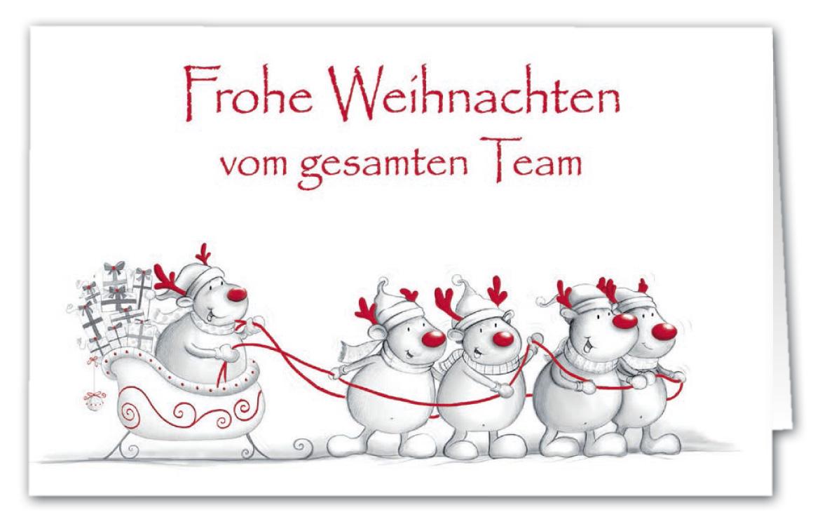 Firmen Weihnachtsgrüße.Firmen Weihnachtskarte Im Witzigen Stil Mit Teddies Und Rentiermützen