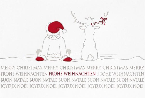 lustige weiße spendenkarte zugunsten deutsche kinder