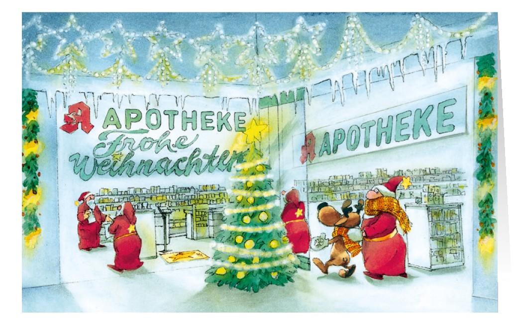 Weihnachtskarte Branchenkarte Apotheke Frohe Weihnachten ...