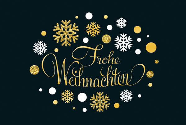 exclusive weihnachtskarte in schwarz mit goldenen und. Black Bedroom Furniture Sets. Home Design Ideas