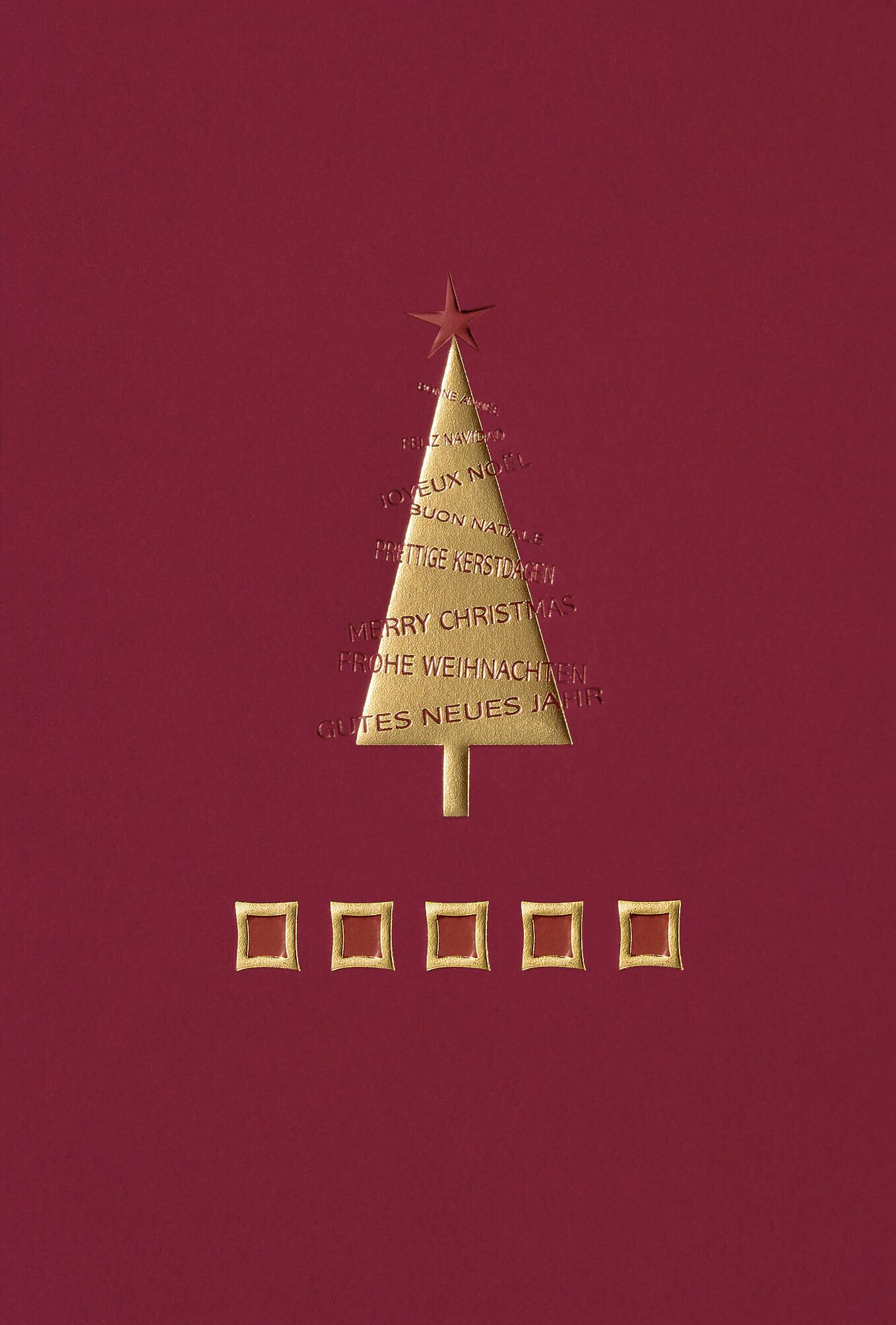 weihnachtskarte in rot mit spendenzweck zugunsten der. Black Bedroom Furniture Sets. Home Design Ideas