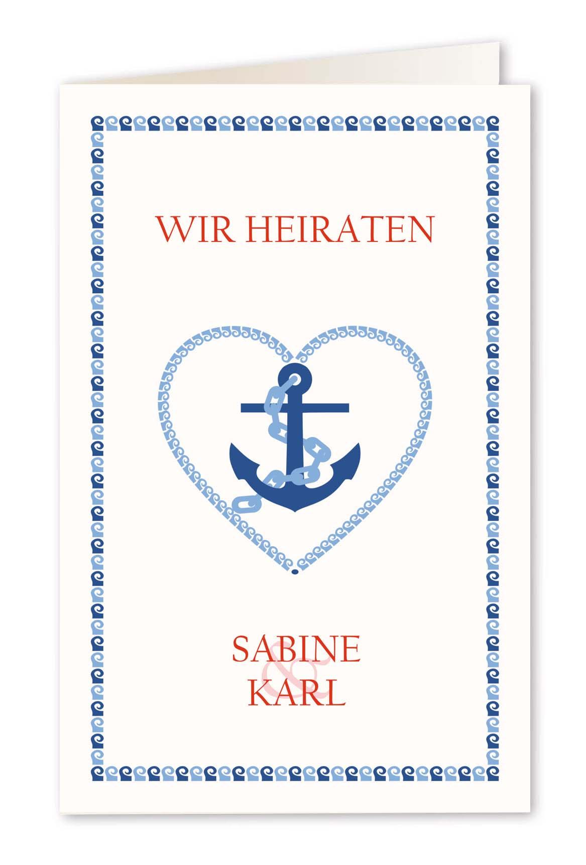 Einladungskarten hochzeit mit briefkuverts online bestellen alle karten de