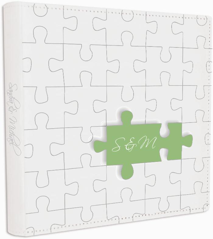 g stebuch f r hochzeit gr ne puzzleteile hochzeitskarten. Black Bedroom Furniture Sets. Home Design Ideas