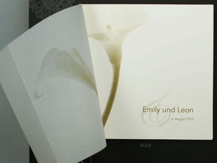 Einladungskarte Hochzeit Calla Quadratisch Transparent Pr16332 U2013  Hochzeitskarten U2013 Hochzeitseinladungskarten U2013 Nach Farben Sortiert U2013 Crème  / Sand / Ocker ...