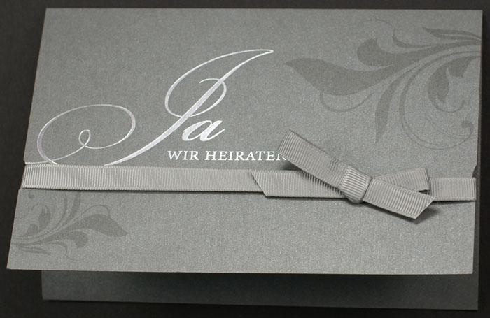 hochzeitskarte anthrazit metallic ja wir heiraten pr16358, Einladung