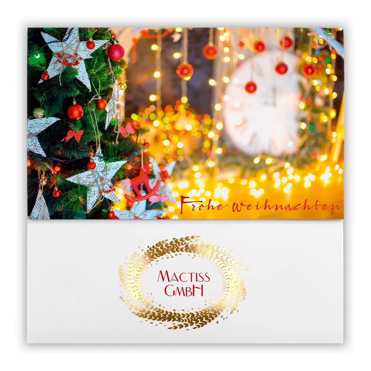 Weihnachtskarten Mit Firmenlogo.Weihnachtskarte Bunte Weihnacht Für Firmenlogo Aufdruck