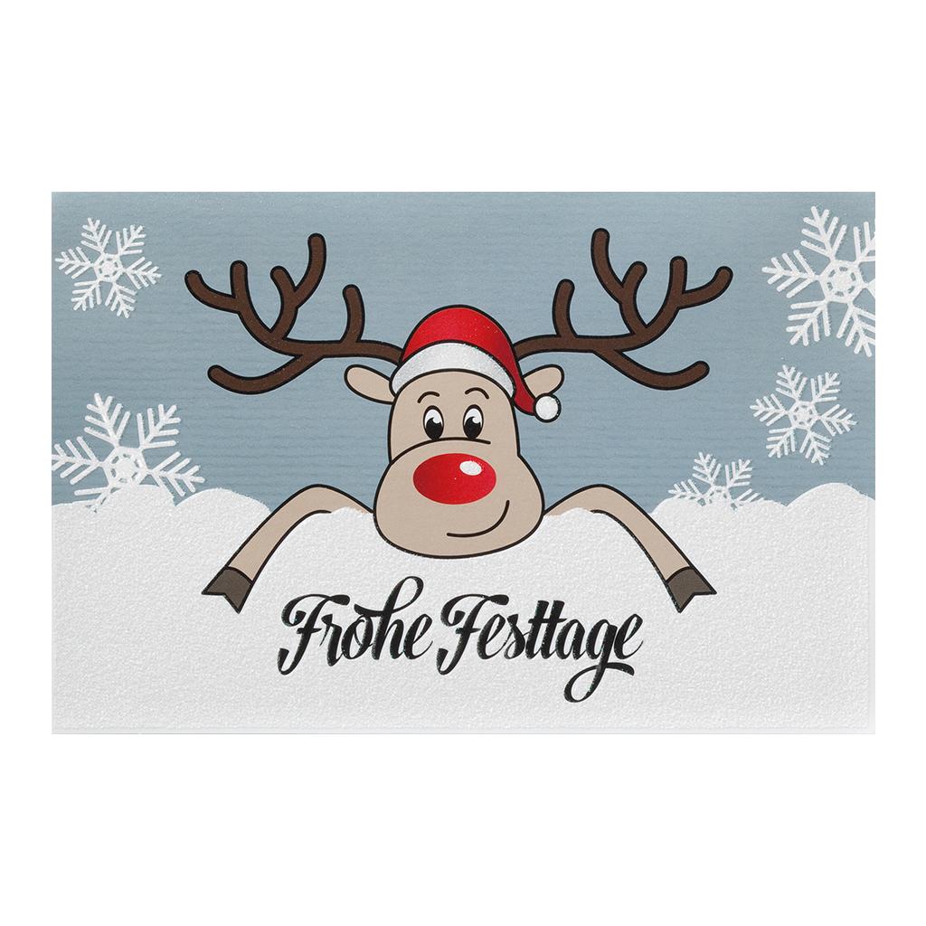 spenden weihnachtskarte elch mit roter nase zugunsten. Black Bedroom Furniture Sets. Home Design Ideas