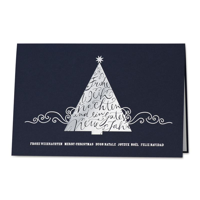 moderne weihnachtskarte mit internationalen gr en und. Black Bedroom Furniture Sets. Home Design Ideas