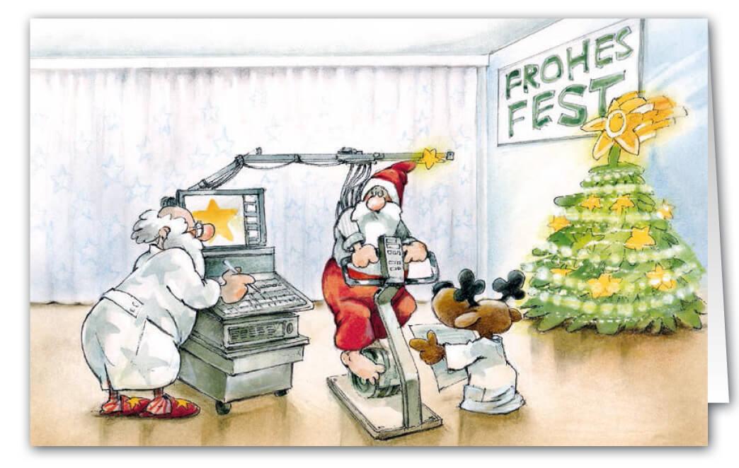 Weihnachtskarte als Branchenkarte für Allgemeinmediziner, Kardiologe ...