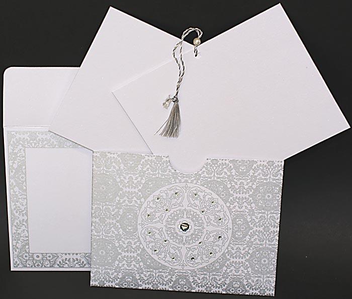 Orientalische Einladungskarte Hochzeitskarte Rd2030 Yalda Weiss