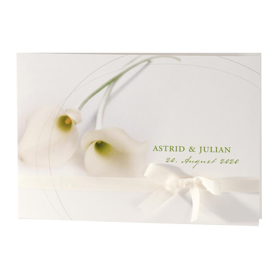 Hochzeits-Einladungskarten mit Calla Blüten  Alle-Karten.de