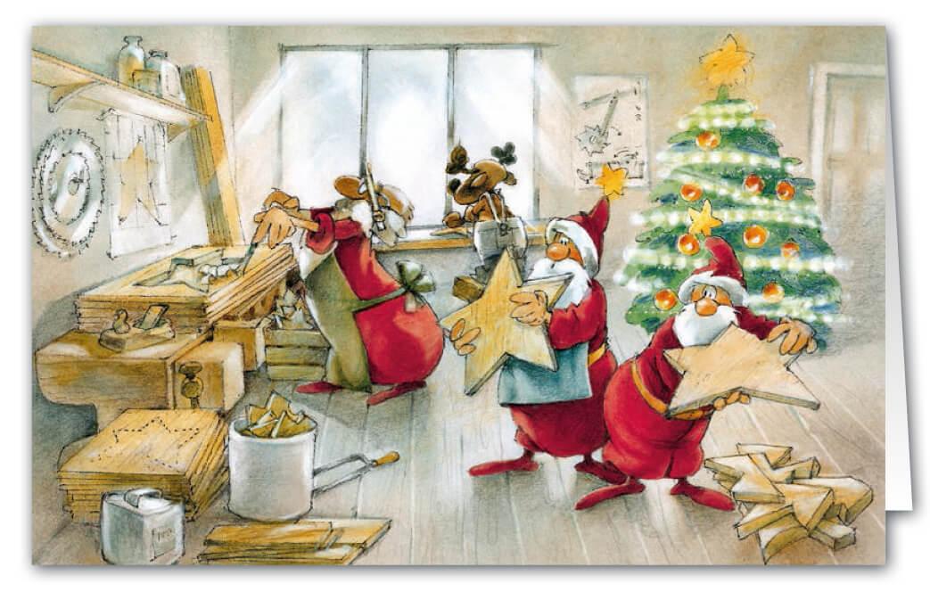 weihnachtskarte f r schreinerei holzhandwerk und k nstler als branchenkarte weihnachten. Black Bedroom Furniture Sets. Home Design Ideas