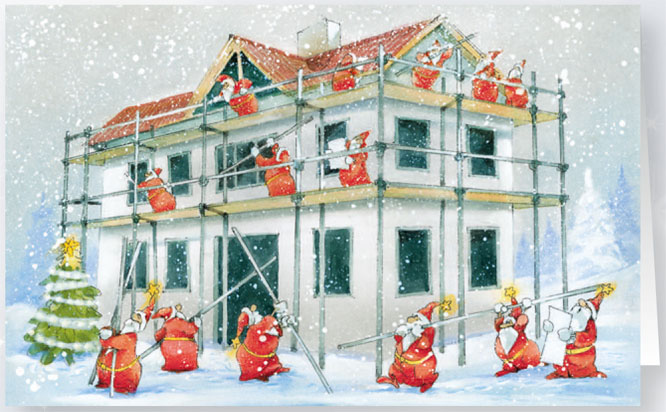 weihnachtskarte branchenkarte ger stbau raw11969. Black Bedroom Furniture Sets. Home Design Ideas