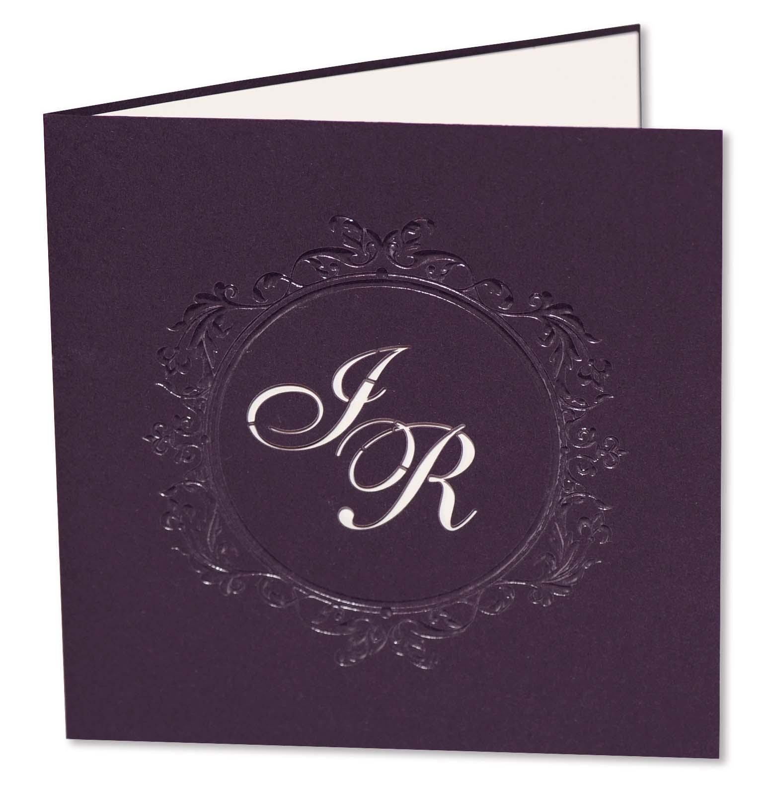 Hochzeits Einladungskarten In Violett Lila Aubergine Flieder