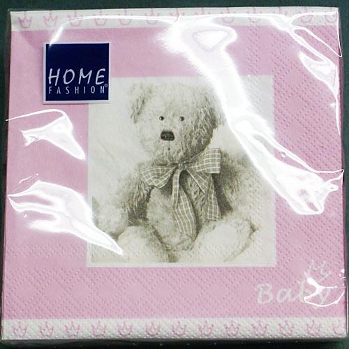 20 servietten geburt taufe teddyb r rosa 25x25 cm id110735 sonstige anl sse taufe. Black Bedroom Furniture Sets. Home Design Ideas