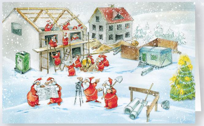 weihnachtskarte branchenkarte hausbau handwerker raw11964. Black Bedroom Furniture Sets. Home Design Ideas
