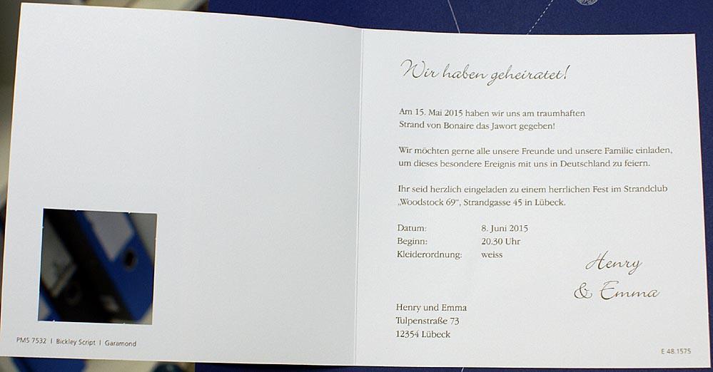 Hochzeitskarte Fc481575 Sandstrand Herzwolke Muschelherz Love