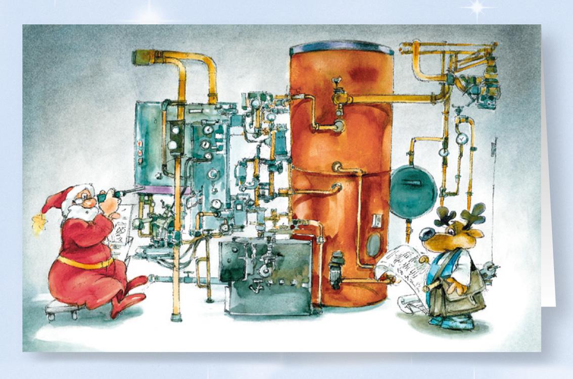 Weihnachtskarte Branchenkarte Heizungsbau Installateur ...