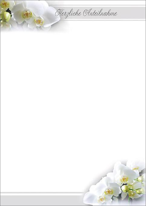 stilvolles trauer briefpapier und kondolenz briefb gen in. Black Bedroom Furniture Sets. Home Design Ideas
