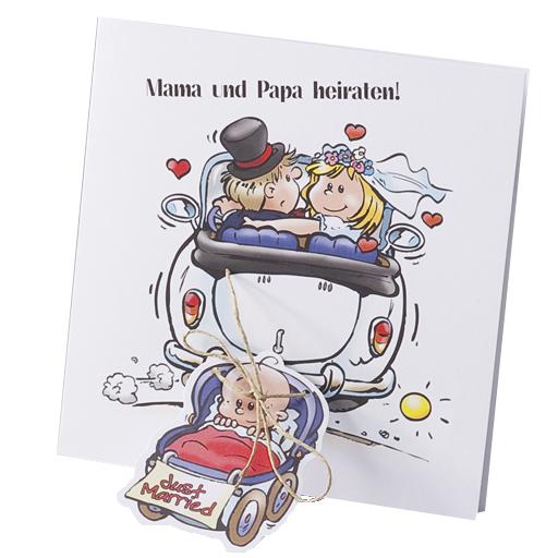 Hochzeit Lustiges: Einladungskarte Zur Hochzeit Mit Comic Brautpaar