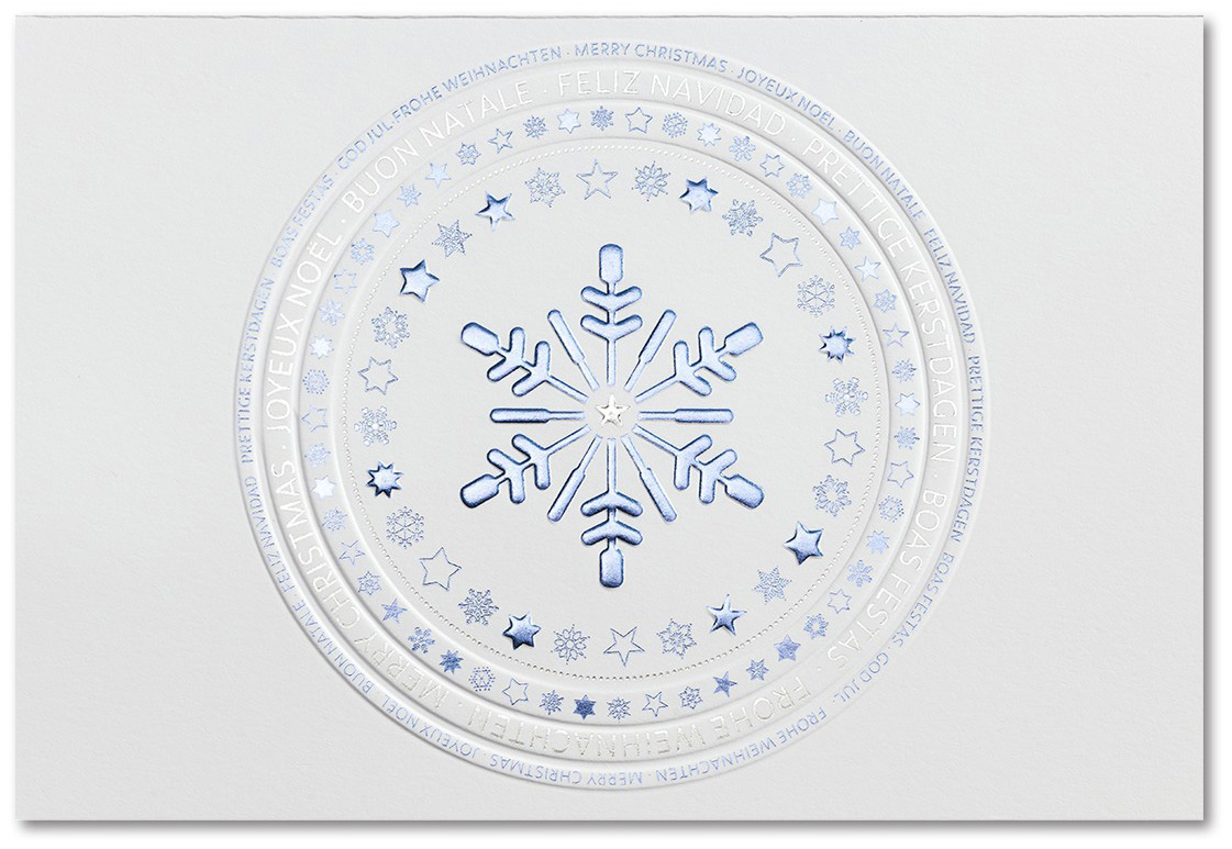 Weihnachtskarte wei mit sternen und internationalen for Servietten eisblau