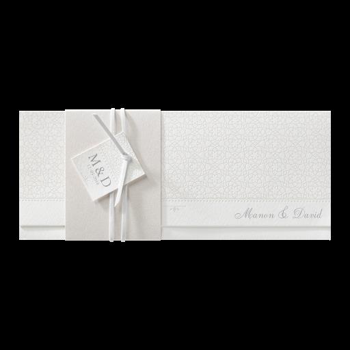 Perlmutt-Banderole und Lederband – Hochzeit – Hochzeitseinladungen ...