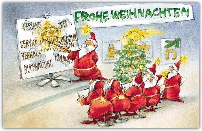 humorvolle weihnachtskarte für unternehmen und firmen