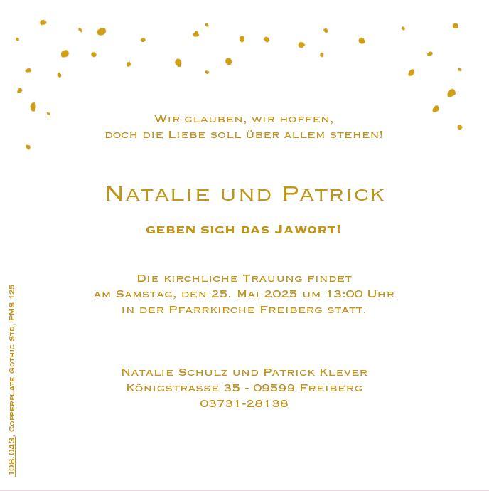 Mustertext Fur Hochzeits Einladungskarte Wir Glauben Wir Hoffen
