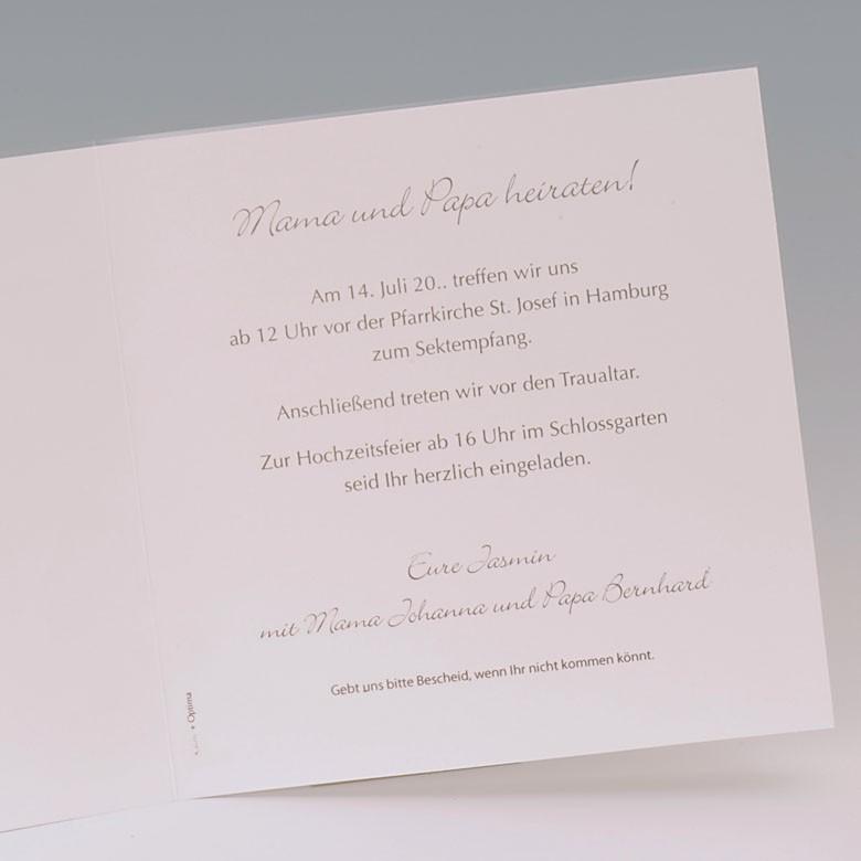 Einladungskarten Hochzeit Mama Und Papa Heiraten Vorlagen Design