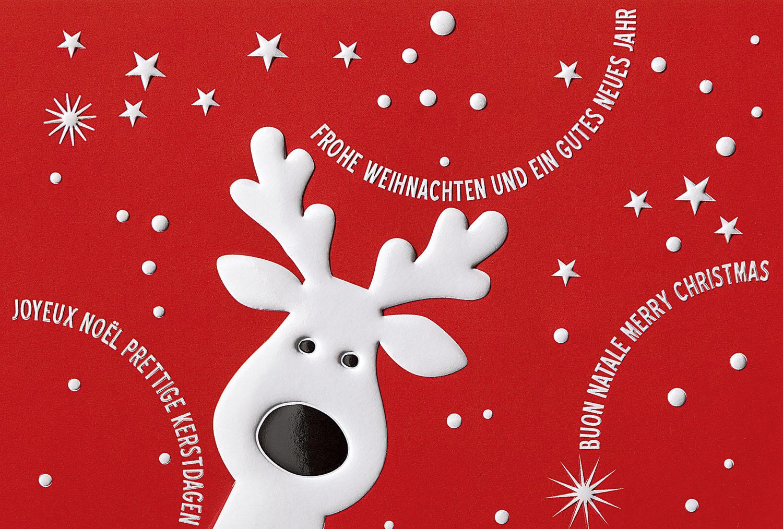 weihnachtskarte rot frohe weihnachten und ein gutes neues. Black Bedroom Furniture Sets. Home Design Ideas