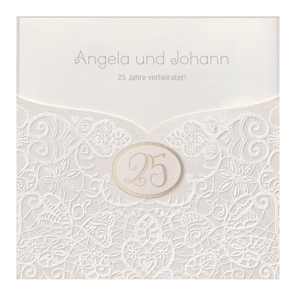 einladungskarten zur silberhochzeit - 25. ehejubiläum | alle-karten.de