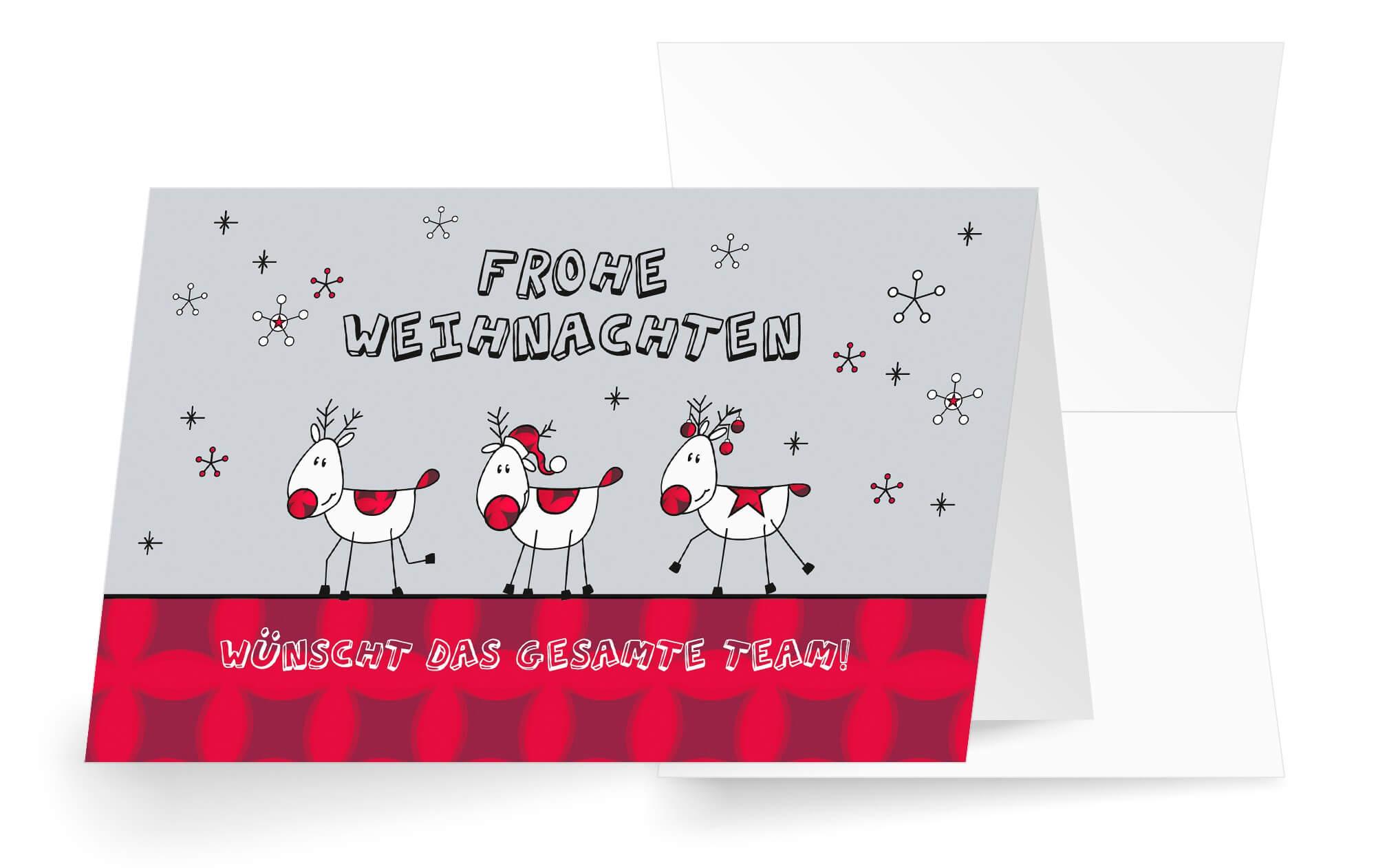 """Lustige Team-Weihnachtskarte """"Frohe Weihnachtszeit"""" mit ..."""