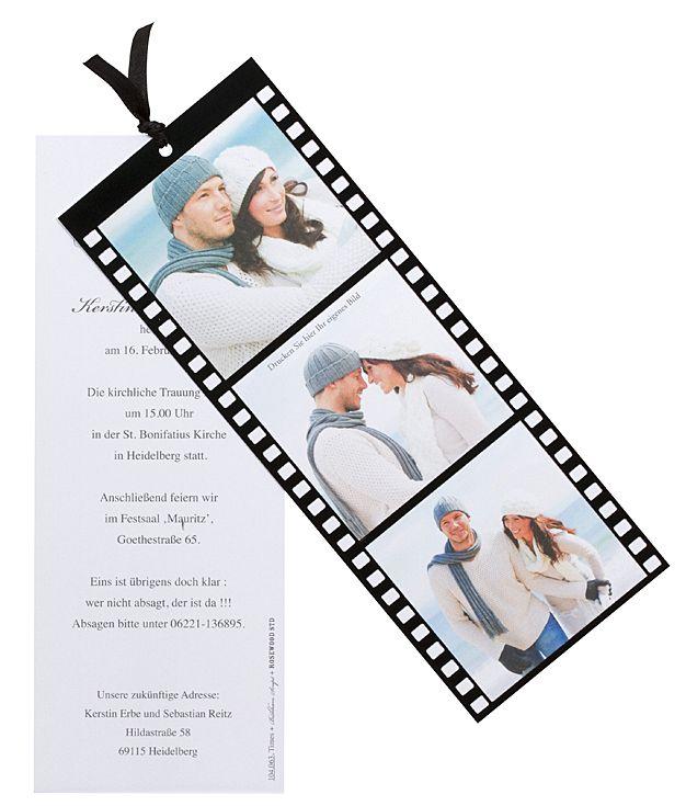 Fotokarte streifen als Einladungskarte oder Danksagungskarte
